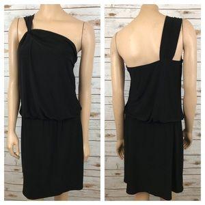 White House Black Market Dress One Shoulder LBD